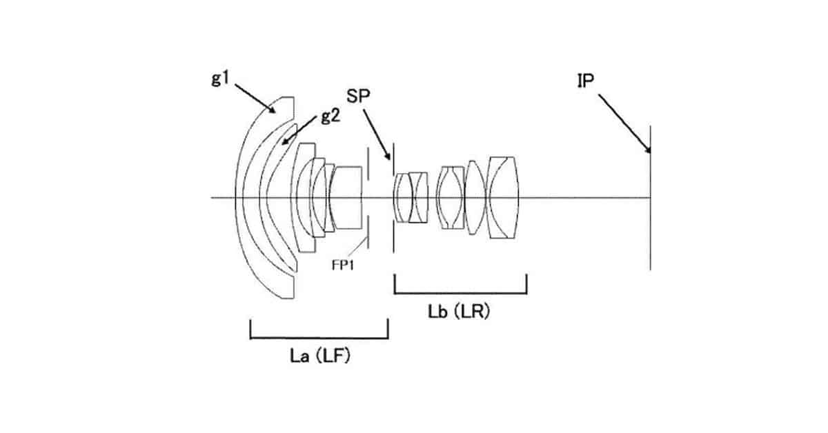 Patent: A Canon 10mm f/2.8 Rectilinear Full Frame Lens