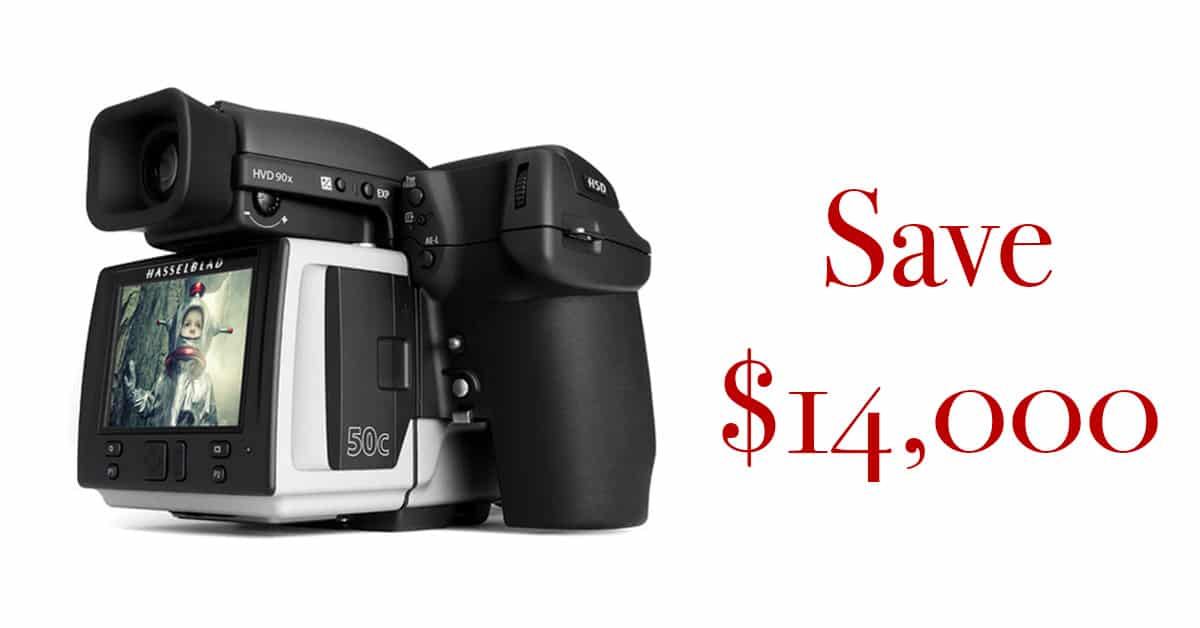 Save $14,000 on the Hasselblad H5Dc!