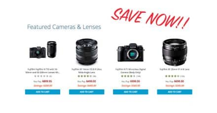 Huge Savings on Fujifilm Products go Live!!