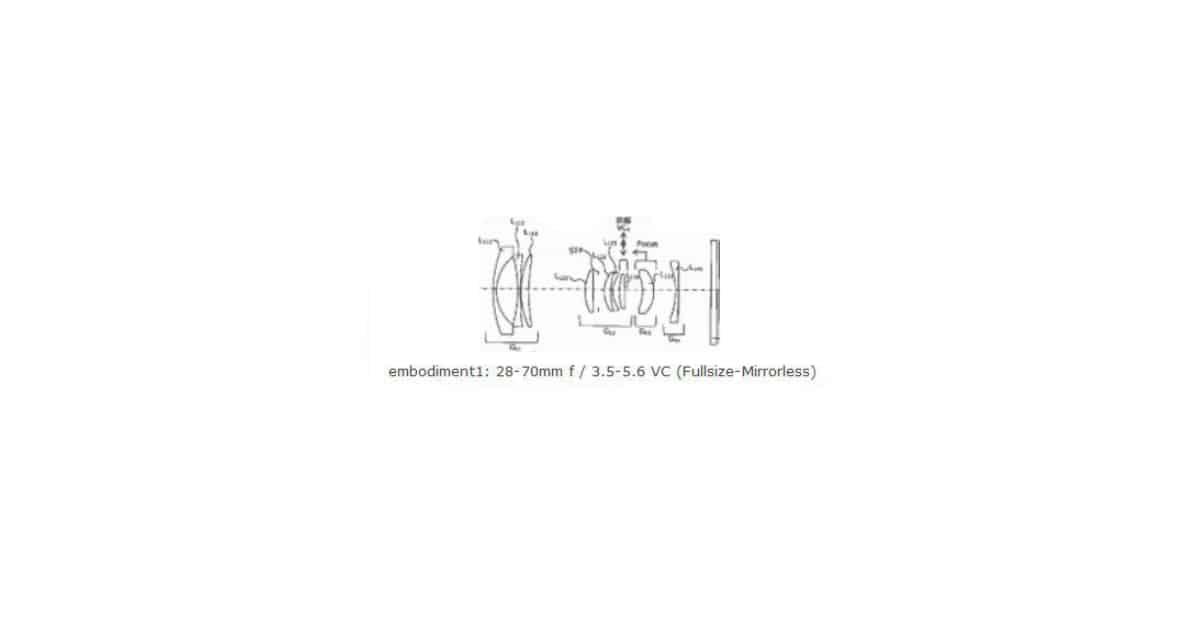 Tamron Patents 28-70mm F3.5/5.6 Full Frame Mirrorless Lens