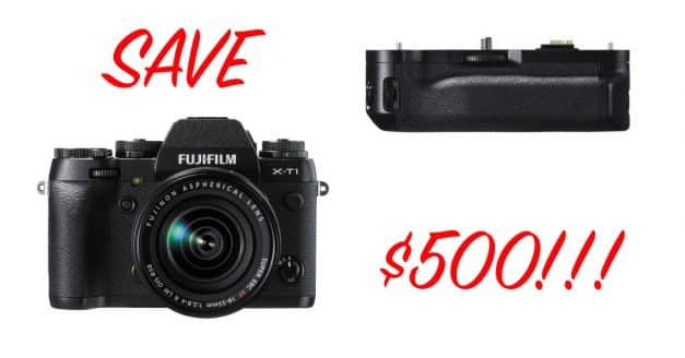 Deal! Get the Fujifilm XT-1 With a Free Vertical Grip, Save Over $500!!!!