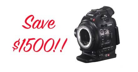 Save $1500 When You Buy The Canon EOS C100 Cinema!!!