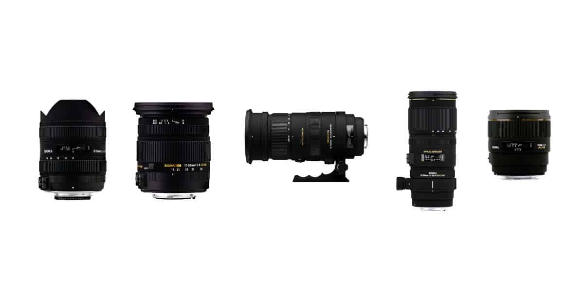 Sigma  Sigma 135mm f/1.8 DG Art, 14mm f/1.8 DG Art, 24-70mm f/2.8 DG OS Art, and 100-400mm DG OS C For CP+