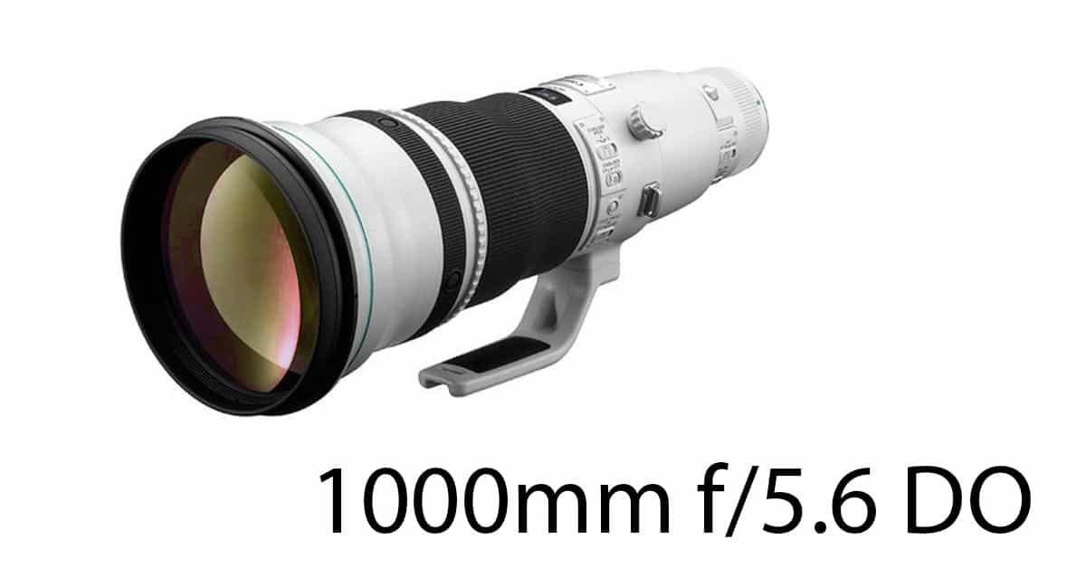 Why Canon Will Make a 1000mm f/5.6 Lens