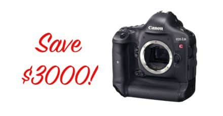Save $3000 on the Canon EOS-1D C!
