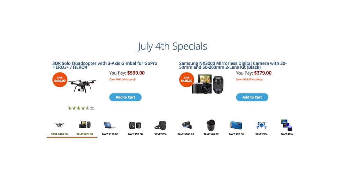 B&H 4th July Savings!