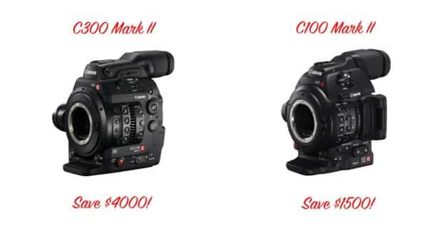 Canon Cinema EOS C100 Mark II and EOS C300 Mark II Prices Dropped!