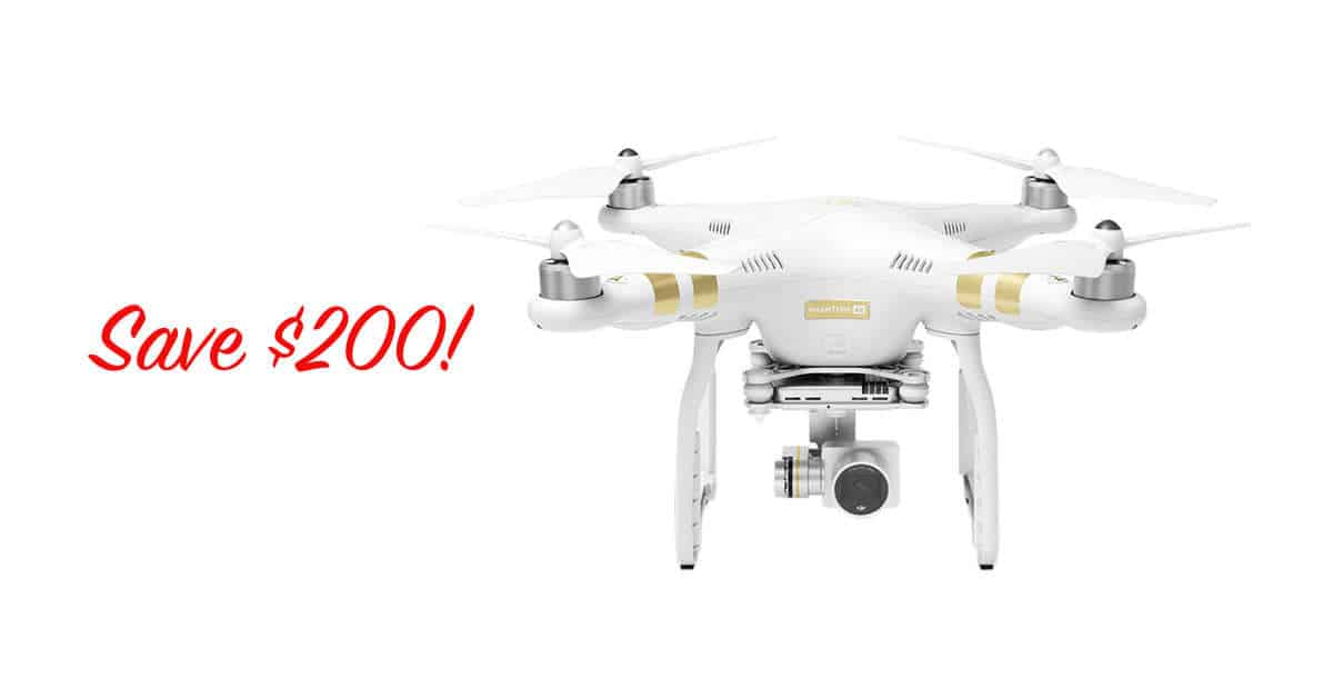 Save $200 on the DJI Phantom 3 4K Drone!