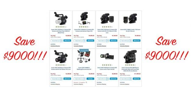 Canon Pro Video Rebates at B&H Photo, Save Up-To $9000!!!