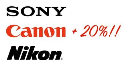 Canon, Nikon and Sony to Increase European Prices by 20%