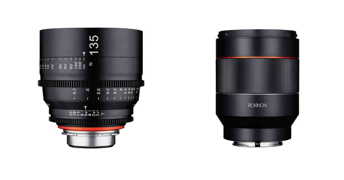 New Rokinon/Samyang AF 50MM F/1.4 and Xeen 135mm T2.2 Pro Cine Lens Pre-Orders are Live.