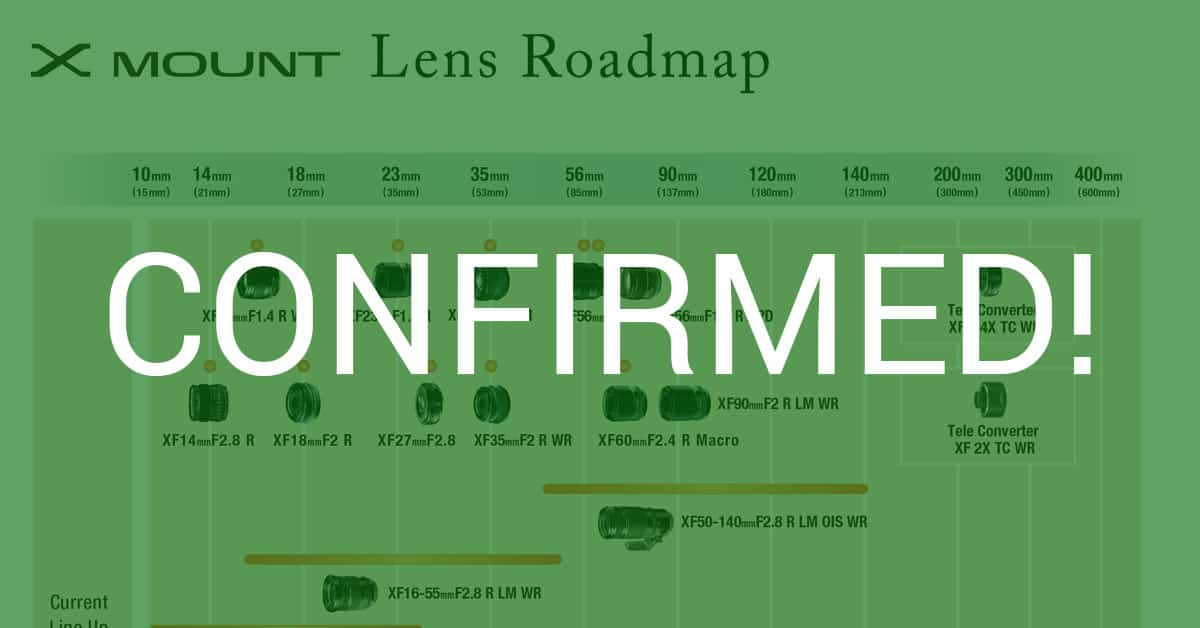 Fuji Reveals New X-Mount Lens Roadmap With 3 New Lenses!