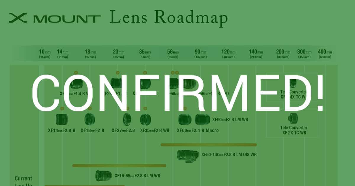 Fuji Reveals New X-Mount Lens Roadmap With 3 New Lenses!