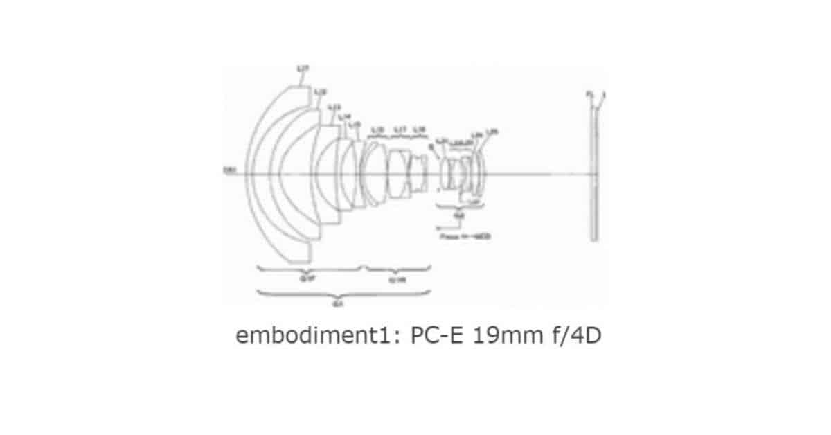 Nikon Patents NIKKOR PC-E 19mm f/4D Tilt-Shift lens.