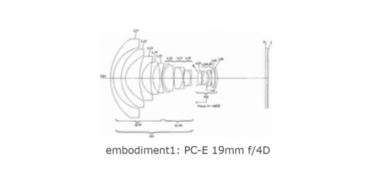Nikon Patents NIKKOR PC-E 19mm f/4D Tilt-Shift lens.