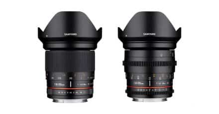 Samyang Introduces the 20mm f/1.8 ED AS UMC Lens