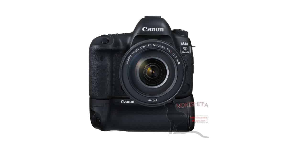 Canon EOS 5D Mark IV Price info, Picture with BG-E20 Grip, and Shipping Dates for all New Canon Products