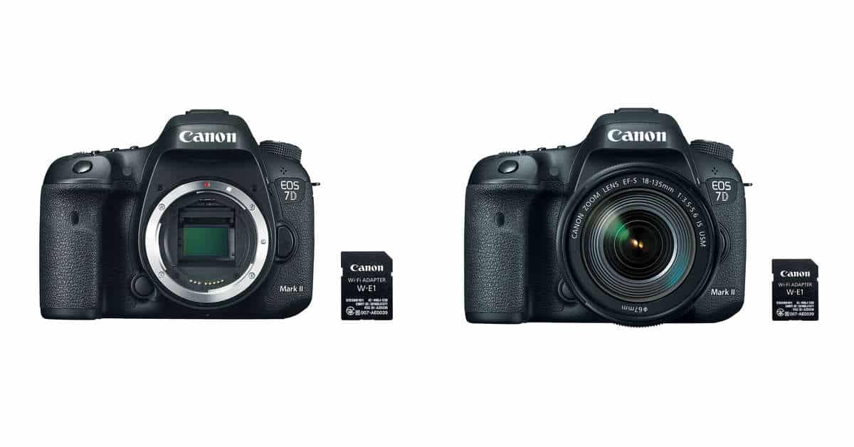 Canon announces EOS 7D Mark II EF-S 18-135mm f/3.5-5.6 IS USM and W-E1 Kits