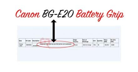 Canon BG-E20 Battery Grip for EOS 5D MK IV Spotted at Delhi Airport