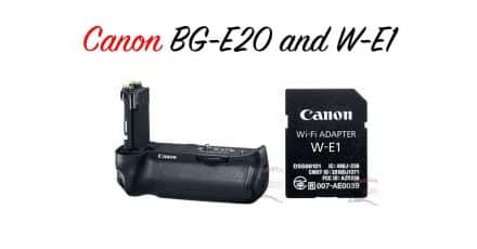 First images of Canon BG-E20 Grip and W-E1 Wifi Adaptor Leak