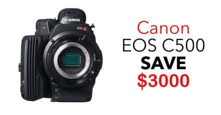 Canon EOS C500 4K Cinema Camera, SAVE $3000!