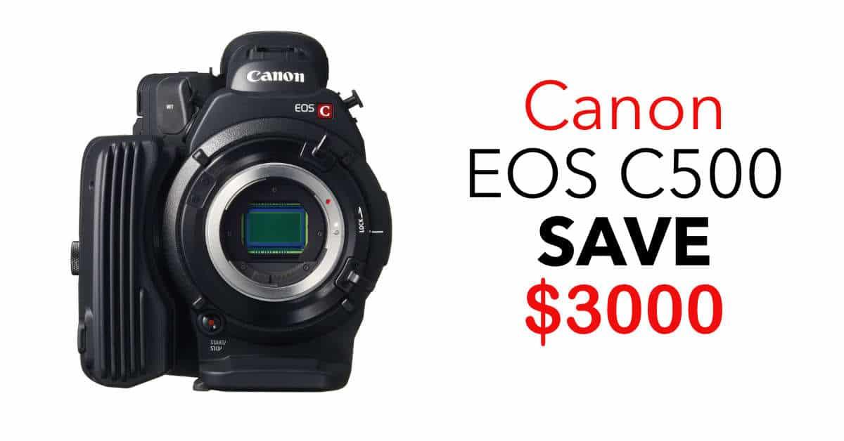 Canon EOS C500 4K Cinema Camera, SAVE $3000!