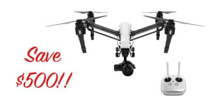 Price Drop! $500 off the DJI Inspire 1 PRO Quadcopter With Zenmuse X5 4K Camera and 3-Axis Gimbal!