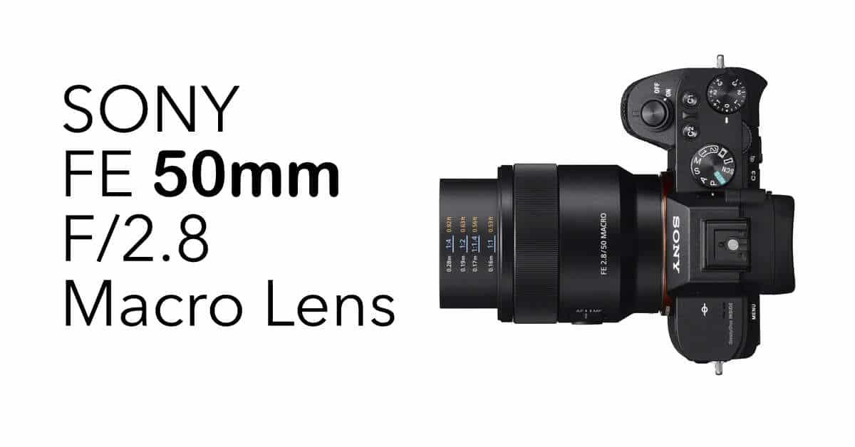 Sony Announces the Sony FE 50mm F/2.8 Macro Lens