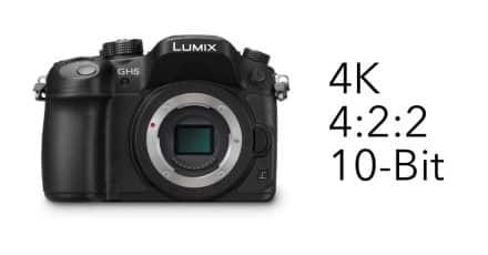 Panasonic Lumix DMC GH5 4K, 4:2:2 10-Bit