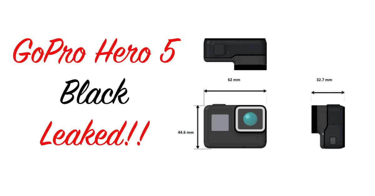 Two new GoPros on the way, Hero 5 Black Specifications Leak!