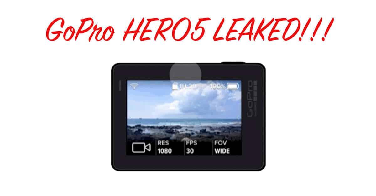 The GoPro HERO5 has Leaked!