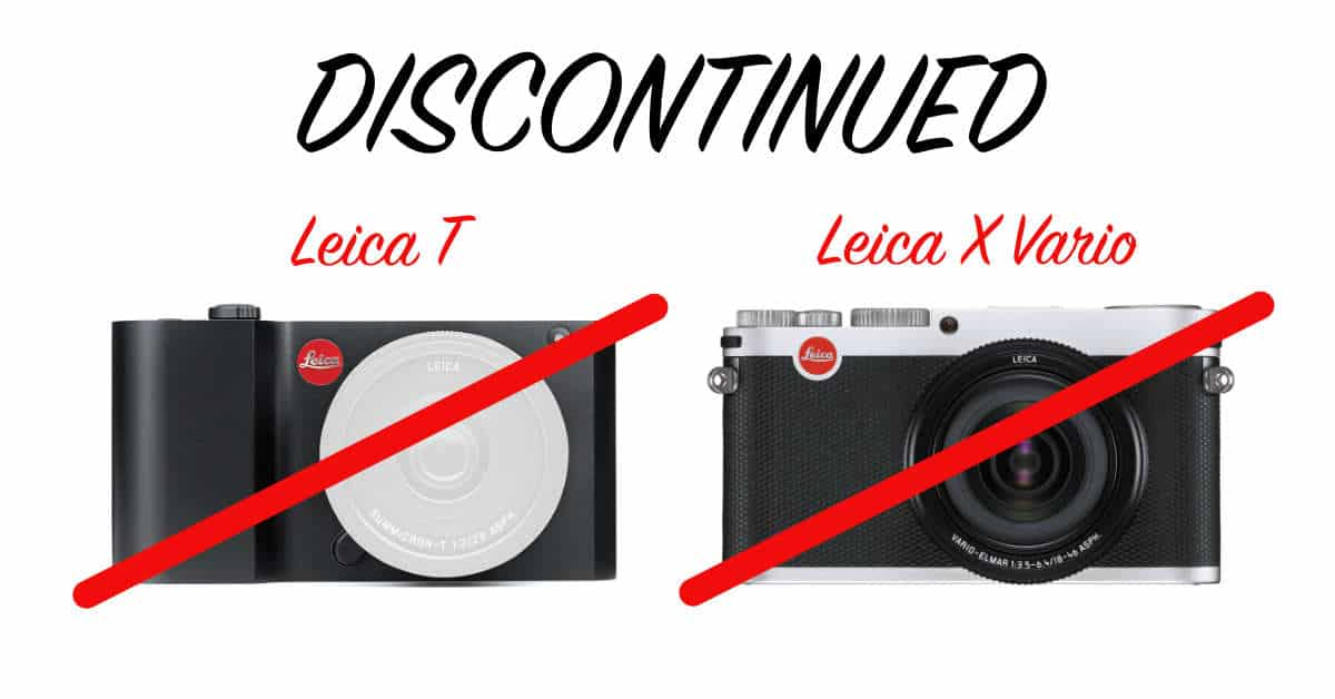 Leica Discontinues the Leica X Vario and Leica T