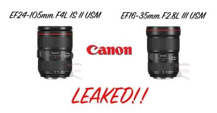 Canon EF 16-35mm F2.8L III USM and EF 24-105mm F4L IS II USM LEAKED!