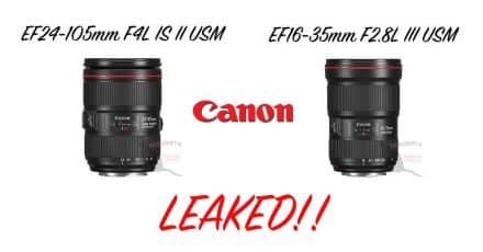 Canon EF 16-35mm F2.8L III USM and EF 24-105mm F4L IS II USM LEAKED!