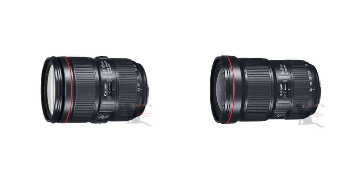 Canon EF 16-35mm f/2.8L III and EF 24-105mm f/4L IS II Detailed Specification Leak!