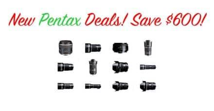 Deal: New Pentax Lens Savings at B&H Photo