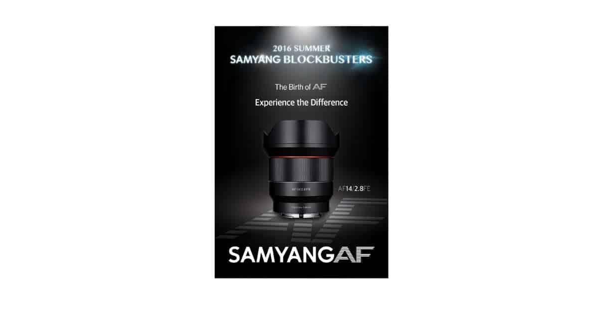 Samyang Announces the Samyang AF 14mm F/2.8 FE