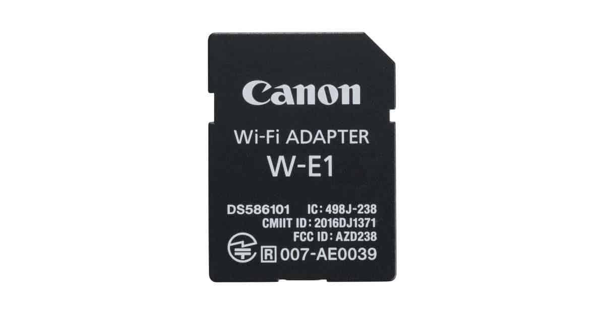 Canon Announces the W-E1 WiFi Adaptor