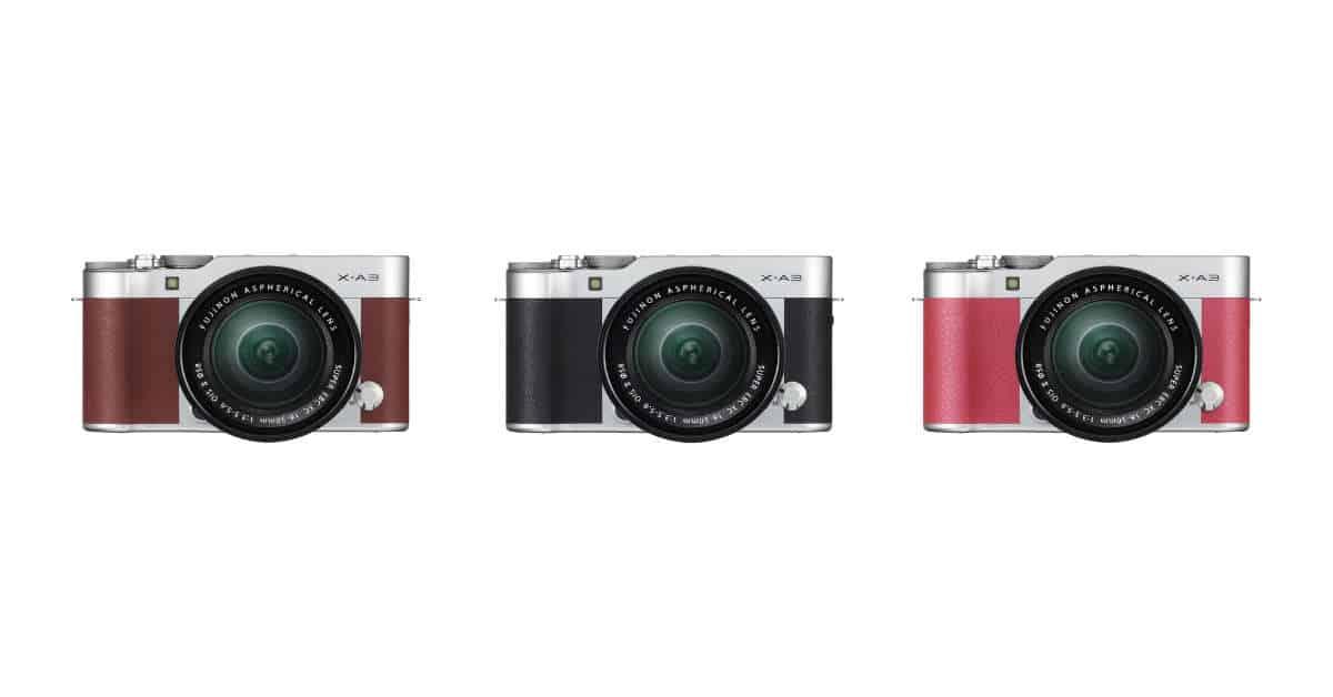 Fuji Announces the X-A3 Mirrorless Digital Camera