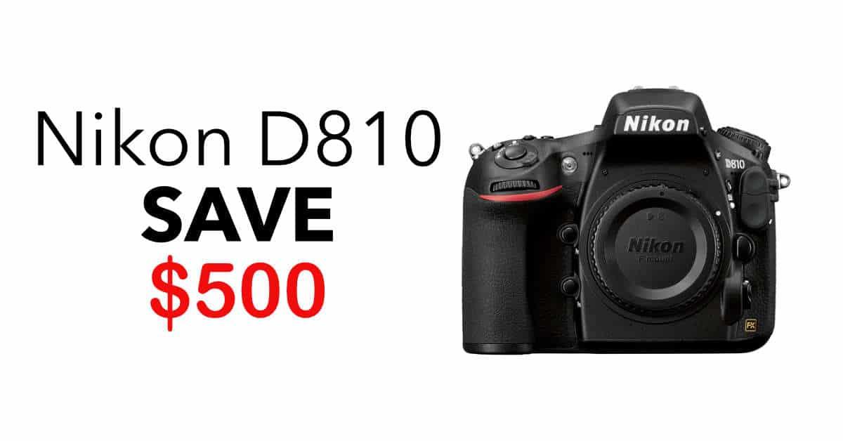 Deal: Save $500 when you buy a Nikon D810!