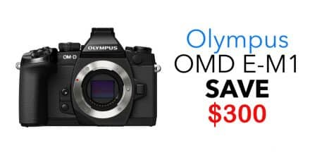 Save $300 on The Olympus OM-D E-M1 Mirrorless Micro Four Thirds Digital Camera