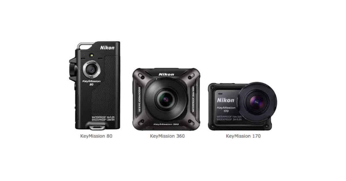 Nikon Announces KeyMission Action Cameras
