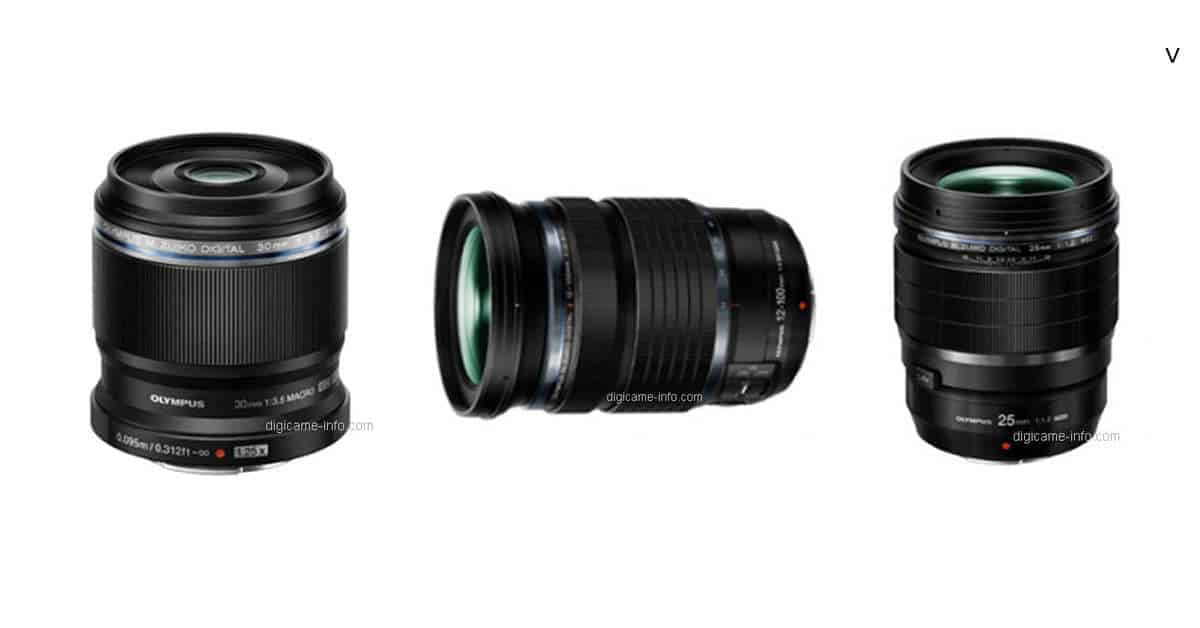 Full Details of Olympus 25mm F1.2 Pro, 12-100mm F4 Pro, and 30mm F3.5 Macro Leak