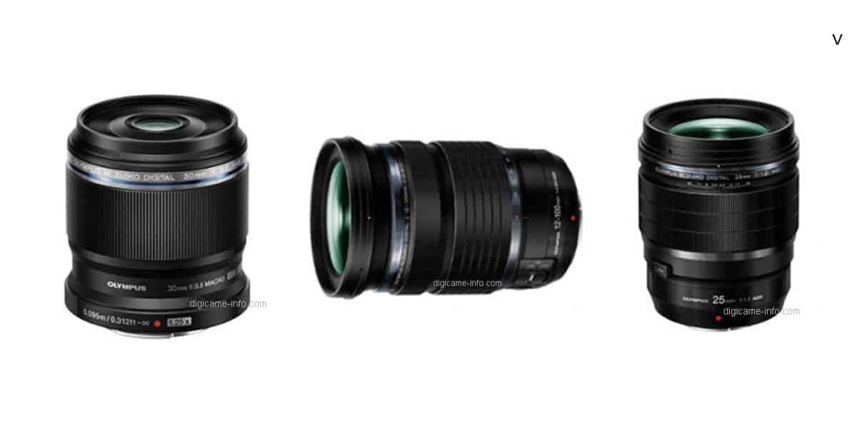 Full Details of Olympus 25mm F1.2 Pro, 12-100mm F4 Pro, and 30mm F3.5 Macro Leak