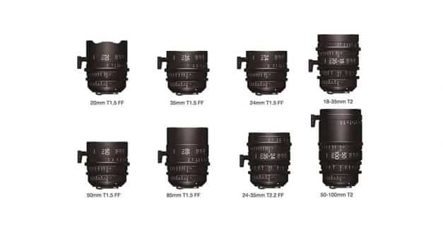 Sigma Announces New Range of Cinema Lenses