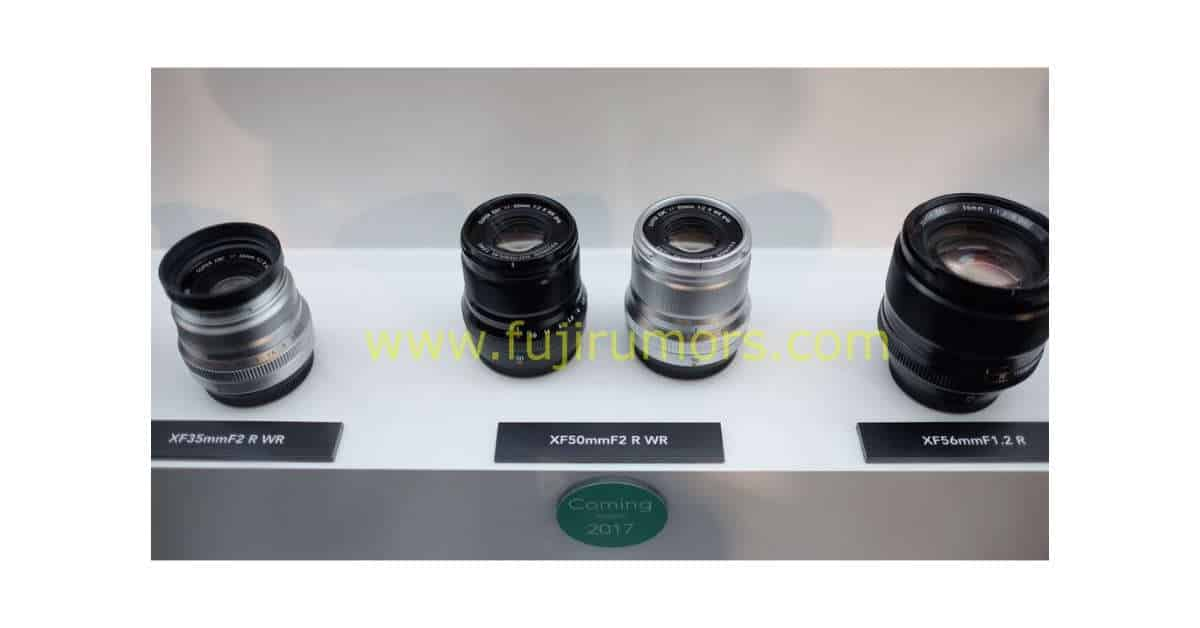 XF 50mm F/2 R WR and XF 80MM F/2.8 R LM OIS WR Macro Spotted at Photokina