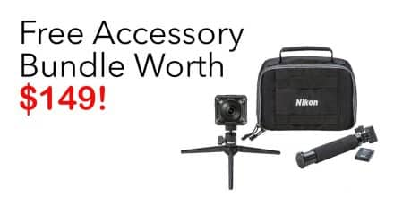 Buy the Nikon KeyMission 360 and get the KeyMission Accessory Bundle FREE