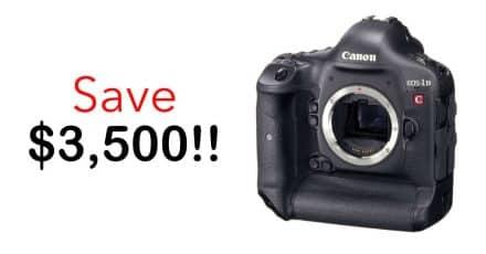Canon Cinema Savings! Save $3500 on EOS-1D C and $300 on Cinema Lenses!