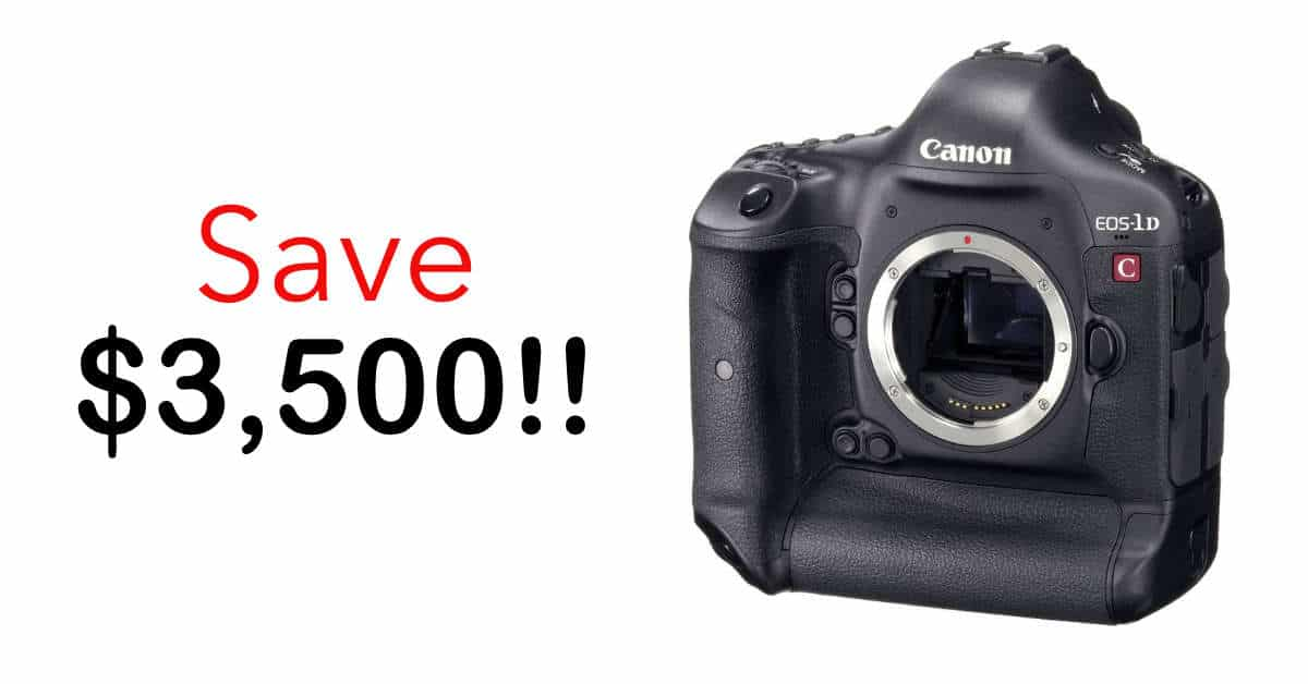 Canon Cinema Savings! Save $3500 on EOS-1D C and $300 on Cinema Lenses!
