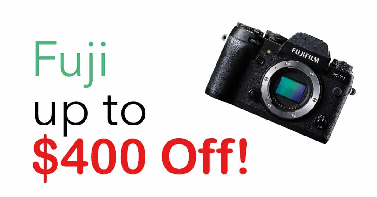 Big Fuji Savings on Cameras and Lenses!